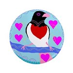 "rose-breasted grosbeak 3.5"" Button (100 pack)"