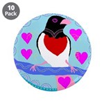 "rose-breasted grosbeak 3.5"" Button (10 pack)"