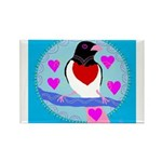 rose-breasted grosbeak Rectangle Magnet (10 pack)