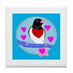 rose-breasted grosbeak Tile Coaster