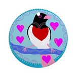 rose-breasted grosbeak Ornament (Round)