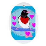 rose-breasted grosbeak Ornament (Oval)
