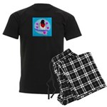 rose-breasted grosbeak Men's Dark Pajamas