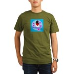rose-breasted grosbeak Organic Men's T-Shirt (dark