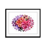Flower Garden Framed Panel Print