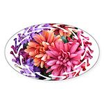Flower Garden Sticker (Oval)