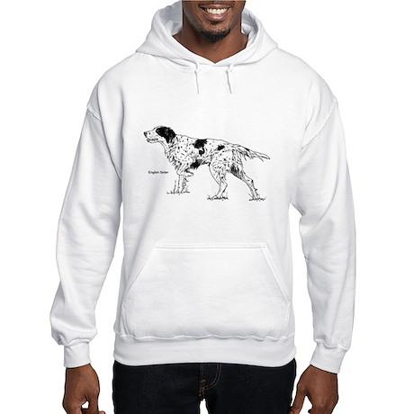 English Setter Dog Hooded Sweatshirt