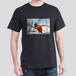 Soviet Athletic Woman Black T-Shirt