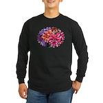 Flower Garden Long Sleeve Dark T-Shirt