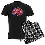 Flower Garden Men's Dark Pajamas