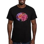 Flower Garden Men's Fitted T-Shirt (dark)