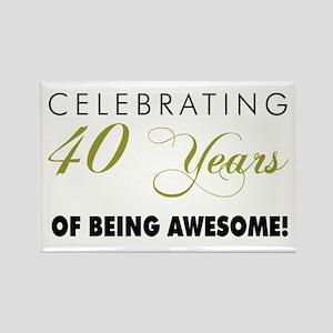 Celebrating 40 Years Rectangle Magnet