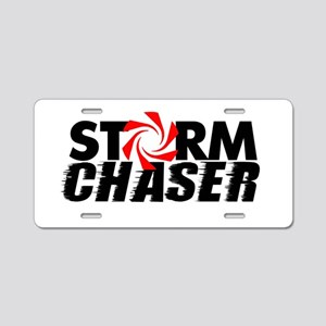 Storm Chaser Aluminum License Plate