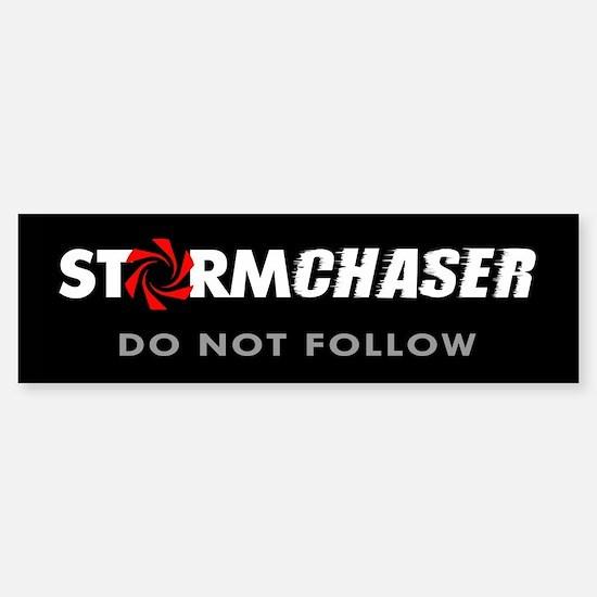 Storm Chaser Sticker Do Not Follow (Bumper)