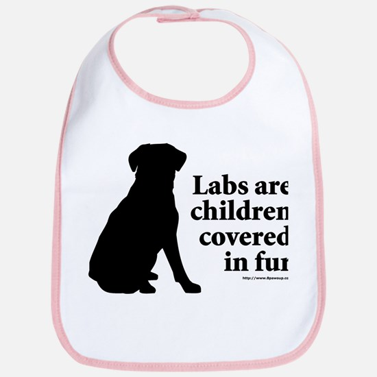 Lab are Fur Children Bib
