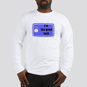 I'M THE GOOD TWIN (BLUE BACKGROUND) Long Sleeve T-