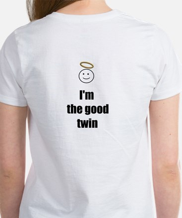 I'M THE GOOD TWIN (BLUE BACKGROUND) Women's T-Shir