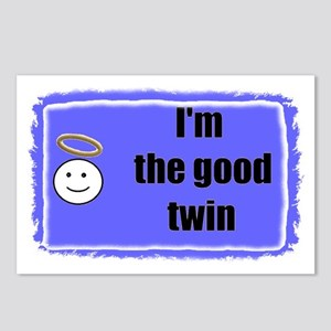 I'M THE GOOD TWIN (BLUE BACKGROUND) Postcards (Pac