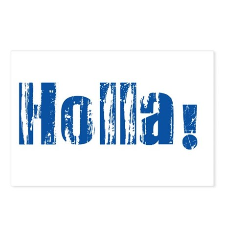 Holla Blue Postcards (Package of 8)