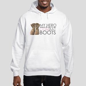 My Hero wears Combat Boots Hooded Sweatshirt