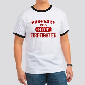 Property of a Hot Firefighter Ringer T