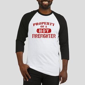 Property of a Hot Firefighter Baseball Jersey