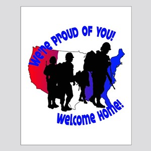 Welcome Home Soldiers Small Poster