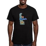 ILY Delaware Men's Fitted T-Shirt (dark)