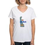 ILY Delaware Women's V-Neck T-Shirt