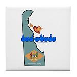 ILY Delaware Tile Coaster