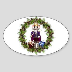 Mouse King Nutcracker Wreath Sticker