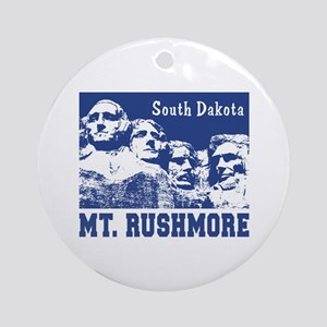 Mt. Rushmore South Dakota Ornament (Round)