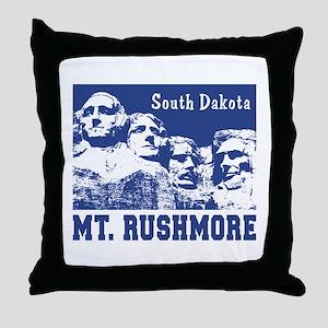 Mt. Rushmore South Dakota Throw Pillow