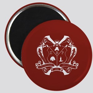 Sigma Beta Rho Fraternity Crest in White wi Magnet