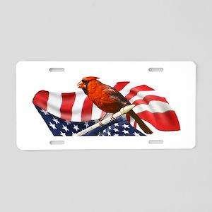 USA Cardinal Aluminum License Plate