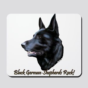 Black German Shepherds Rock Mousepad