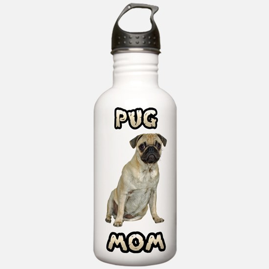 Pug Mom Water Bottle