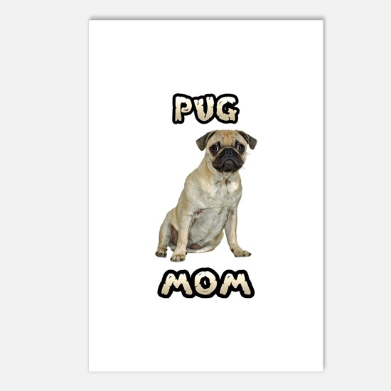 Pug Mom Postcards (Package of 8)