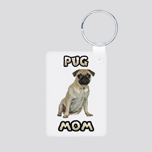 Pug Mom Aluminum Photo Keychain