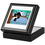 Panda says Read.Know.Grow. Keepsake Box
