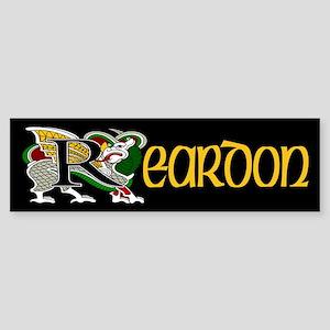 Reardon Celtic Dragon Bumper Sticker