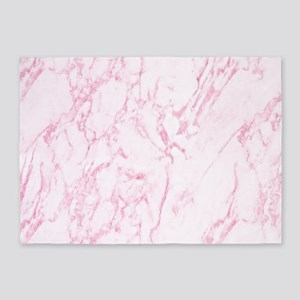 Pink Marble 5'x7'Area Rug
