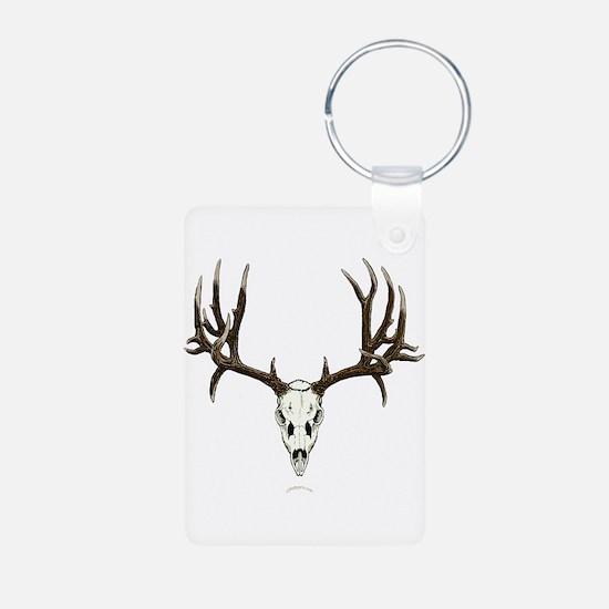 Deer skull Aluminum Photo Keychain