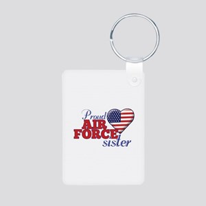 Proud Air Force Sister - Aluminum Photo Keychain