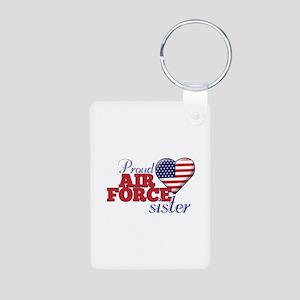 Proud Air Force Sister - Aluminum Photo Keychain