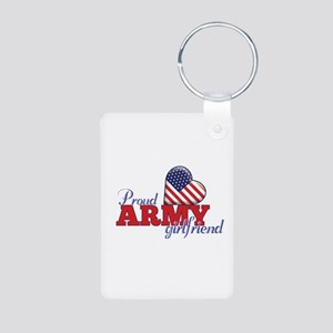 Proud Amy Girlfriend - Aluminum Photo Keychain