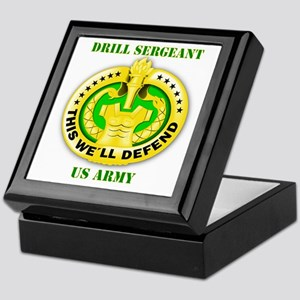 Army - Emblem - Drill Sergeant Keepsake Box