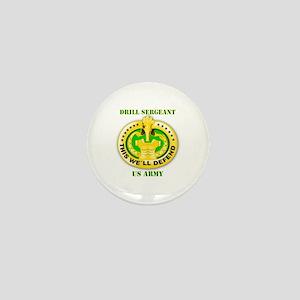 Army - Emblem - Drill Sergeant Mini Button