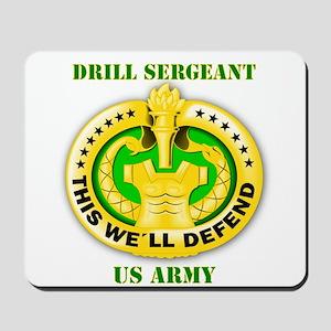 Army - Emblem - Drill Sergeant Mousepad