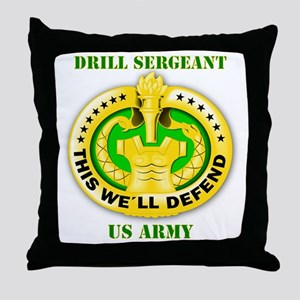 Army - Emblem - Drill Sergeant Throw Pillow